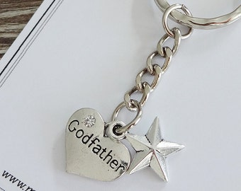 Will you be my Godfather / Special Godfather charm keyring