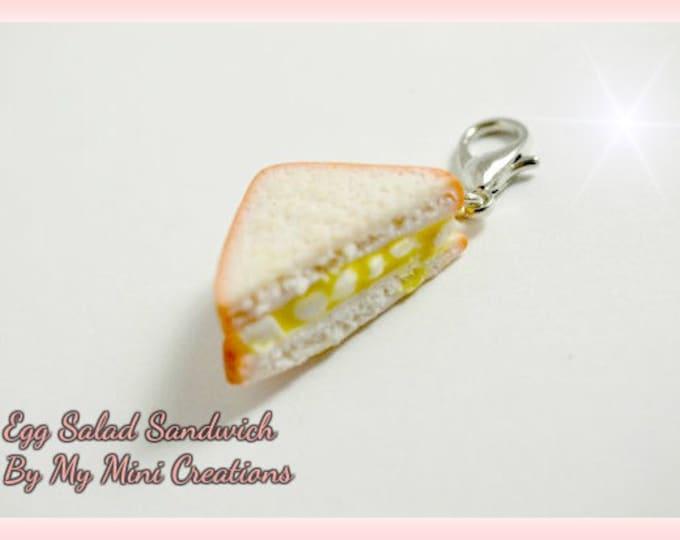 Egg Salad Sandwich Charm, Miniature Food, Miniature Food Jewelry, Food Jewelry