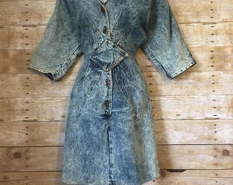1980's acid wash dress
