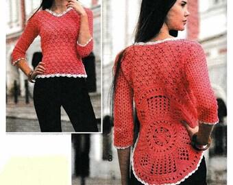 Mesdames printemps été pull en coton crochet et acrylique / custom