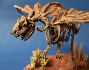 Dragon skeleton sculpture fantasy animal