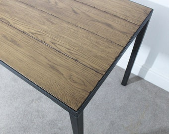 Astaire 4ft Industrial Office Desk / Dining Table Handmade in the UK