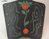 "Leather archery armguard ""The Vine"""