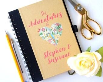 Personalised Honeymoon Travel Journal Honeymoon memory book Honeymoon diary
