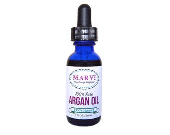 100% Pure Argan Oil | Cold Pressed Oil | Vegan | Natural | Serum | Food-Grade
