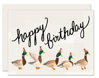 Duck Parade Birthday Card