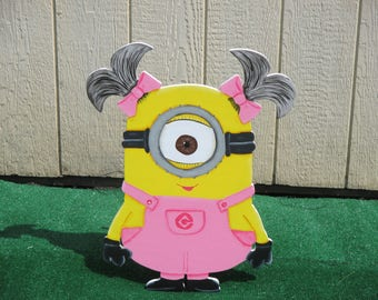 Adorable Girl Minion Yard Sign
