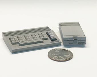 Mini Commodore C64c with 1541 Disk Drive - 3D Printed!
