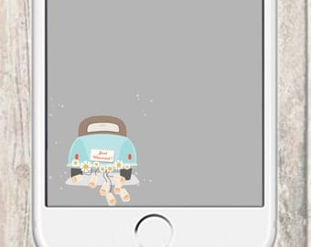 Wedding Day Just Married Snapchat Filter - Just Married Car Decorations Geofilter