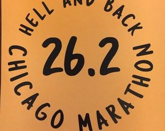 Chicago Marathon running decal