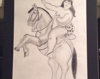 1989 SIGNED BOTERO DRAWING