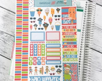 DP18 || SUMMER TREATS Planner Stickers - PlannerKate & DorkyDoodles (Removable Matte Stickers)