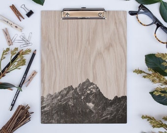 Grand Teton 1048 NP, US National Parks, Wood Clipboard, Natural Wood