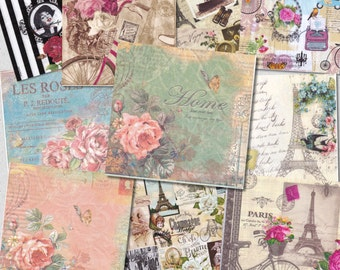 Free shipping! Lot of 30(Thirty)different napkins Nostalgic/Vintage for decoupage,decoupage under glass,scrapbooking and other art