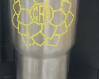 Flower monogram AND/OR YETI 30oz cup