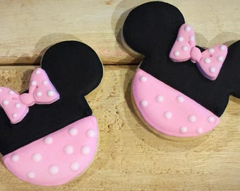 Minnie Mouse Sugar Cookies - 1 Dozen