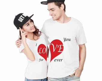 I Love You ForEver, Couple shirts, Matching couple shirts, Cute couple shirts, Matching t shirts, Gift for her, Gift for him