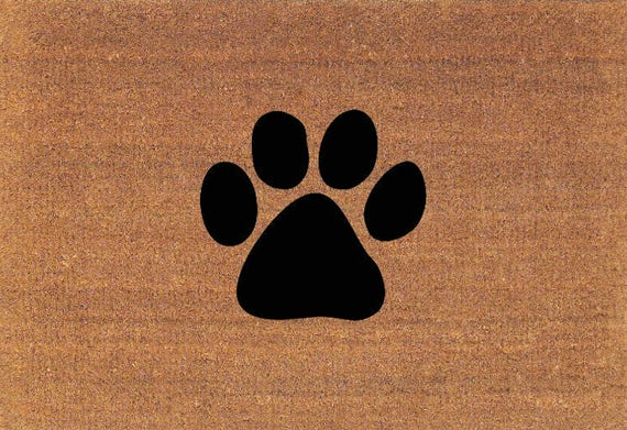 Paw Print Dog Paw Cat Paw Door Mat Coir Doormat Rug 2