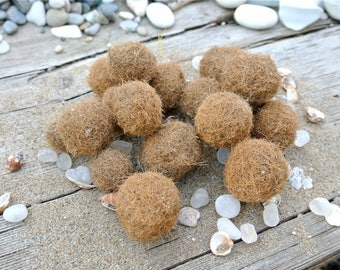 Seaweed Balls, 16pcs, Neptune Balls, Seagrass, Beach Finds, Posidonia Oceanica, Beach Decor, Ecofriendly Decor