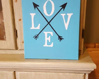 Canvas home decor, arrow decor, home decor