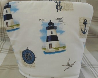 Tea cosy-Nautical tea cosy- Nautical tea cozy-Lighthouse tea cosy-Postcard tea cozy