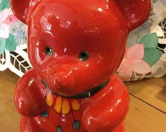 Italian ceramic teddy moneybox
