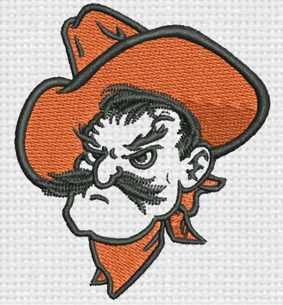 Oklahoma state pistol pete embroidery design by