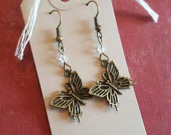 Butterfly Antique Bronze earrings