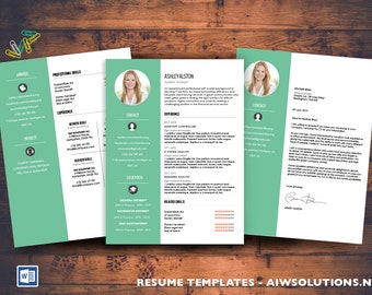 Resume / CV Template, Cover Letter  for MS Word, Creative resume template, Curriculum Vitae (CV) Templates, job letter, Professional Resume
