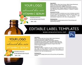 Skin Care Label Template,jar Label,Skin Care Label, Serums Label,  Conditioner