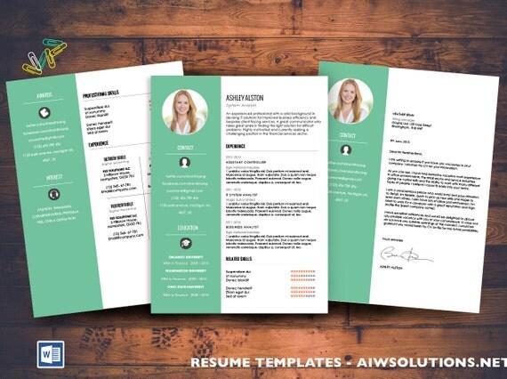 Lebenslauf / CV Vorlage Anschreiben job für MS Word kreativ