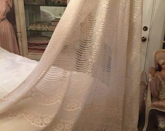 Vintage Cream Lace Curtains