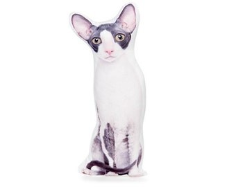 Cornish Rex, Cornish Rex Pillow, Funny Cat Gifts, Cat Gifts, Cat Decor, Cat Lovers, Cat Pillow, Cat Cushion, Valentines Day Gift, Girl Gift