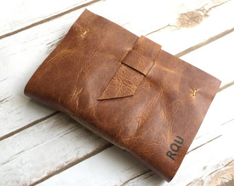 leather journal - personalized leather travel journal - sketchbook - diary - art journal - handmade bound book - leather notebook - custom