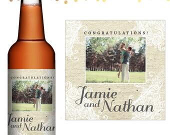 Wedding Beer Label - Custom Beer Label - Personalized Beer Label - Wedding Beer Bottle Label - Photo Label - Wedding Beer Favors