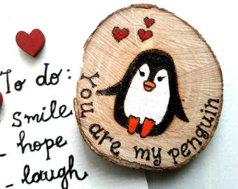 You're My Penguin Gift, Penguin Small Gift, Valentine's Gift for Him, Penguin Gift, Fridge Magnet, Gift for Him, Gift For Boyfriend