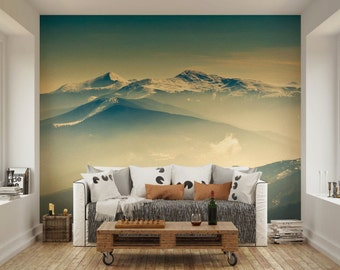 Wall Murals Decals mountain wall mural | etsy