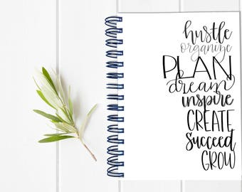 Small Undated Inspirational Motivational Planner - One Year Fill in Calendar Planner - Weekly Planbook - Monthly Mom Boss Schedule Sister