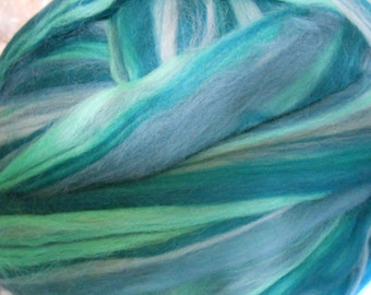 Merino Wool Combed Top/Roving by the Pound - Malachite