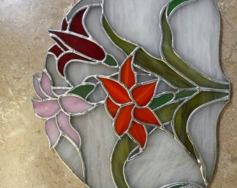 Lilly stained glass