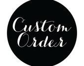 Custom Cranberry Bracelet with Custom Text