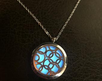 Blue circle locket