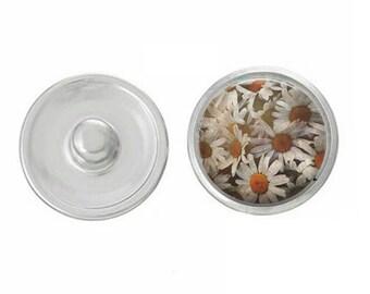Boho charm Daisies charm snap jewelry boho charm bohemian charm  bracelet interchangeable jewelry