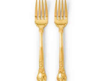 Gold Wedding Cake Fork Set Wedding Accessories