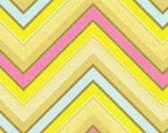 Sale Pop Garden Zag Stripe in Pink by Heather Bailey for Free Spirit Fabrics Fat Quarter OOP HTF