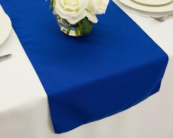 Royal Blue Polyester Table Runner | Wedding Table Runners