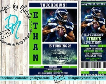 Seattle Seahawks Football Invitation