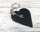 Leather Anniversary  3rd Anniversary Gift  3rd Wedding Anniversary  Leather Keyring  Leather Gift  Keychain Charms  Tomahawk Charm