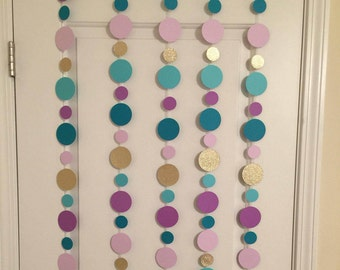 Circle Garland Banner, Party Decorations, Birthday Garland, Birthday Banner, Shower decorations, Garland Banner, Room Decor