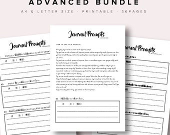 Japanese Journal Writing Beginners to Advanced Bundle
